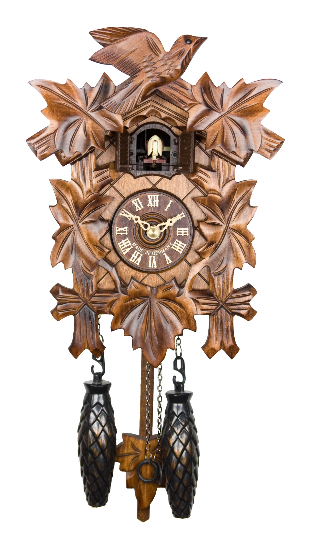 Adolf herr quartz cuckoo clock the traditional vine How to make a cuckoo clock