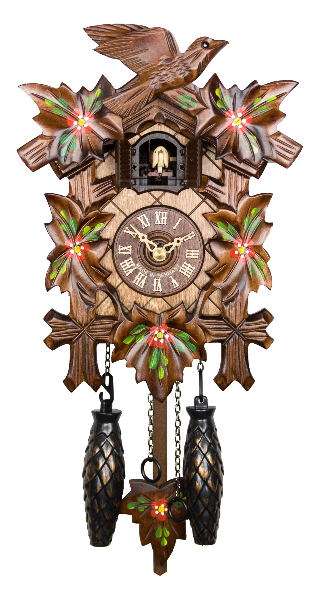 Adolf Herr Quartz Cuckoo Clock - Spring Flowers AH 40/6 QM ...