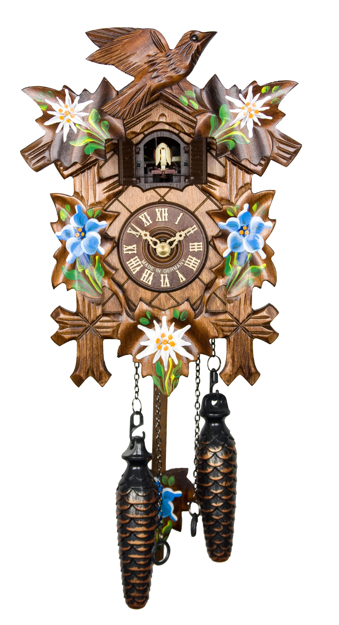 Adolf Herr Quartz Cuckoo Clock - Alpine Flowers AH 40/8 QM ...