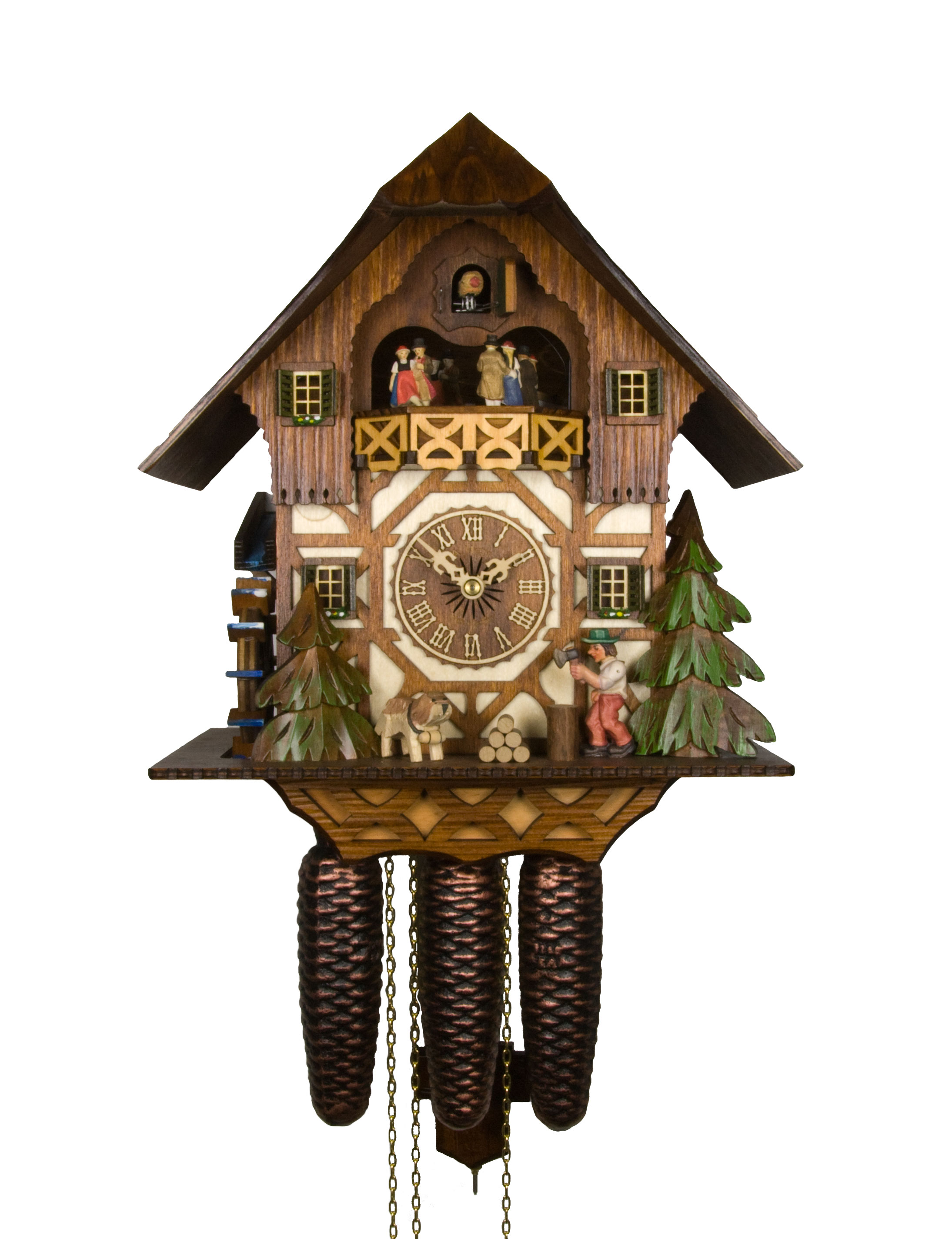 Adolf herr cuckoo clock the wood chopper ah 433 1 8tmt new ebay - Cuckoo clock pendulum ...