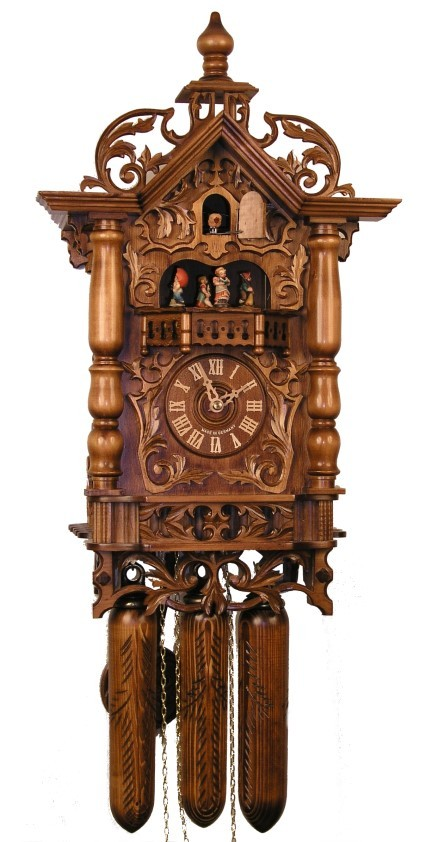 Adolf herr cuckoo clock the 1870 39 s railway house clock ah 500 1 8tmt new ebay - Coo coo clock pendulum ...