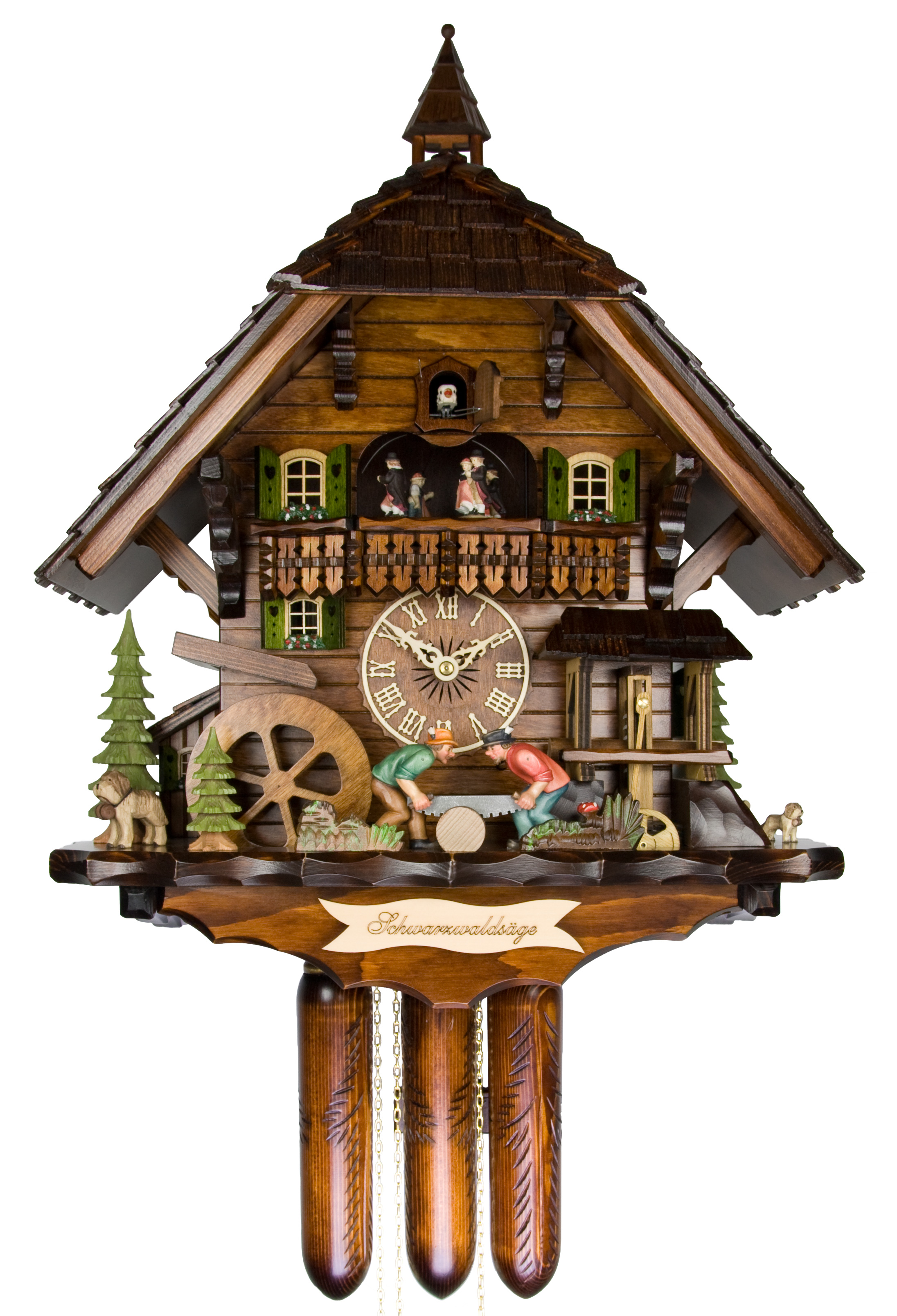 Adolf herr cuckoo clock the black forest saw mill ah 870 for Www coo