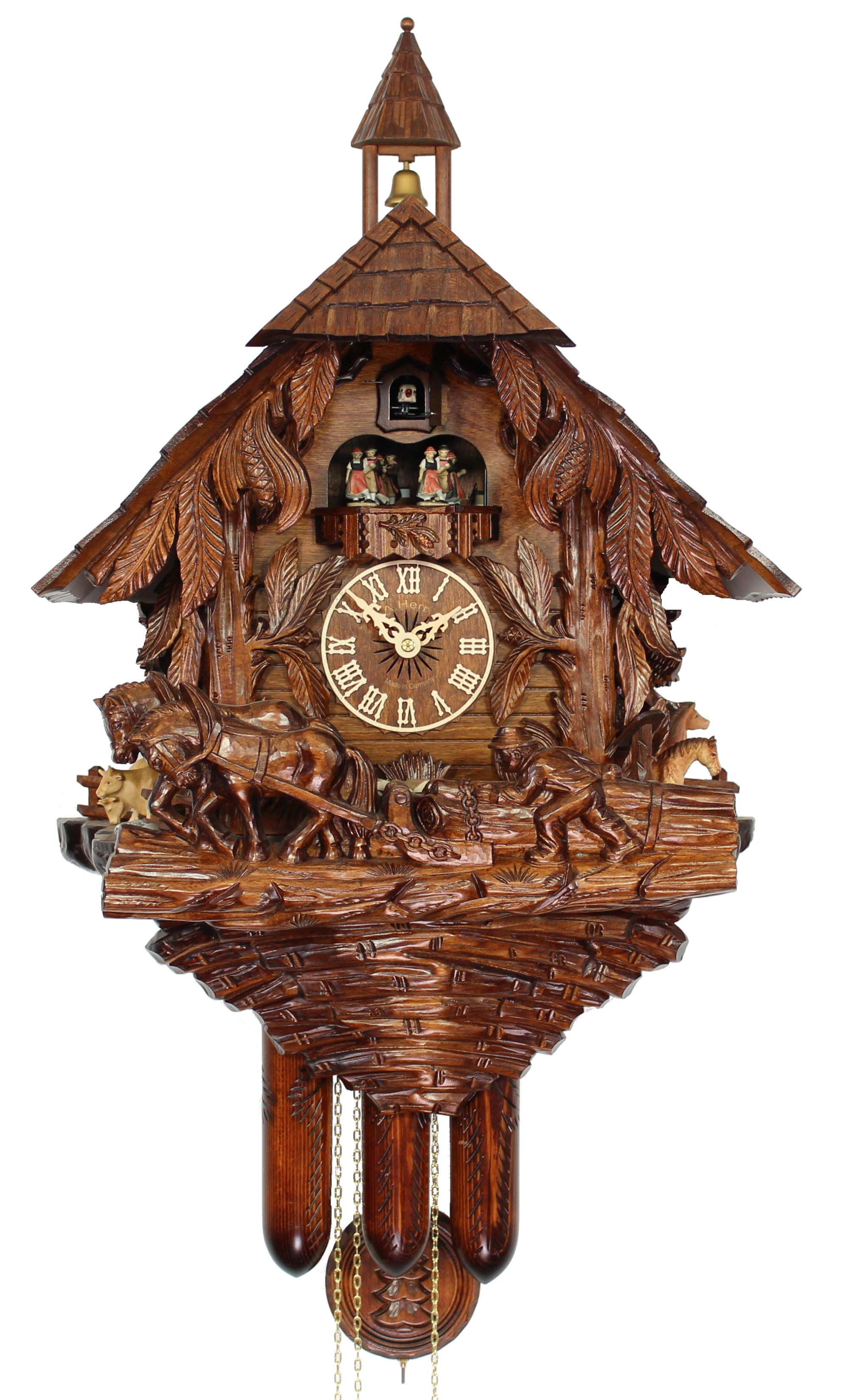 Herrzeit cuckoo clock the lumberjack ah uk 40 8tmt new ebay - Coo coo clock pendulum ...