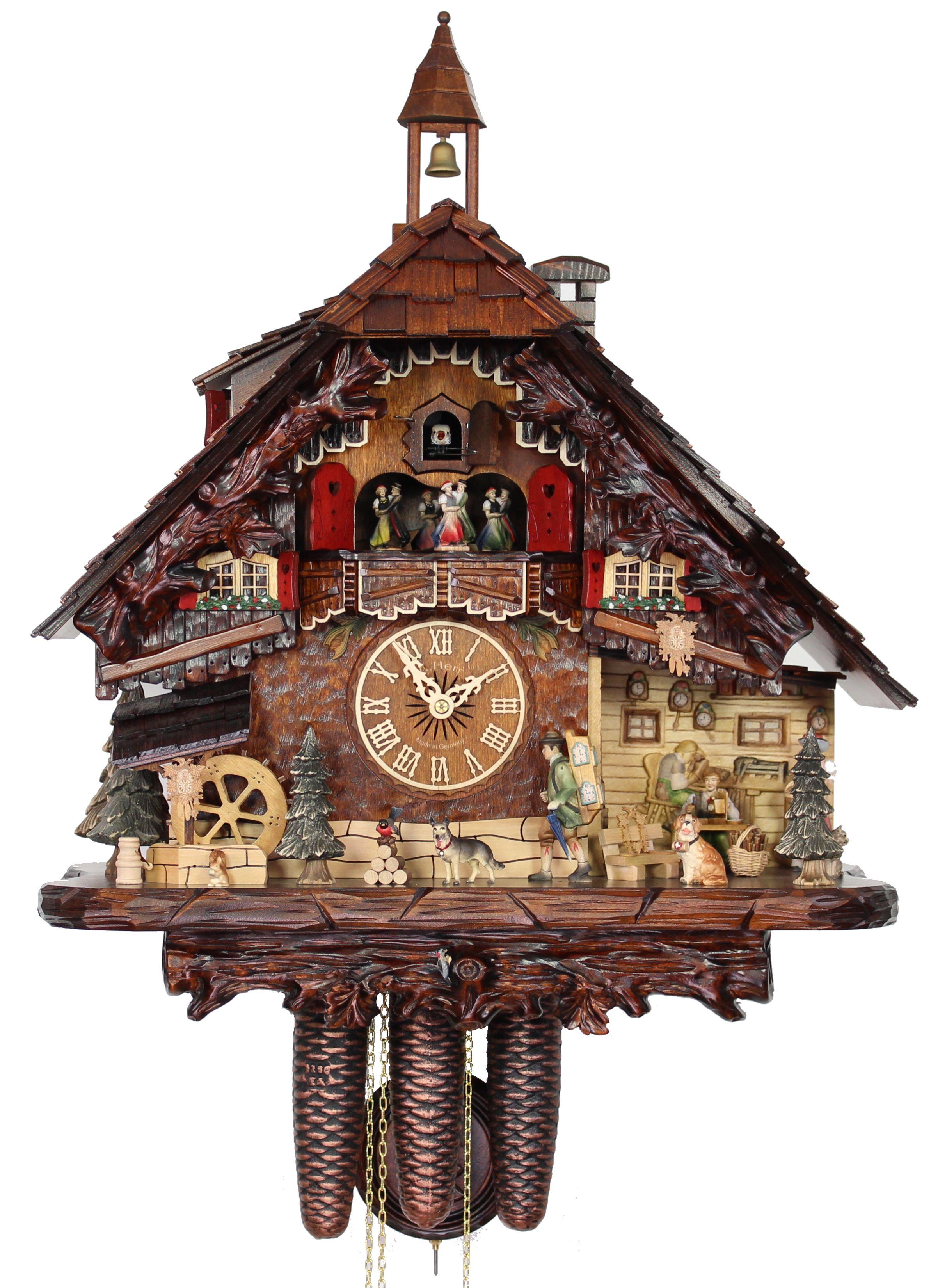 Herrzeit cuckoo clock the clockmaker ah uk 80 8tmt new ebay - Coo coo clock pendulum ...